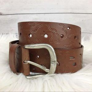 Steven by Steve Madden genuine leather cutout belt
